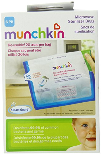 Munchkin Steam Guard Microwave Sterilizer Bags, 6 Pack, White (Munchkin Steam Sterilizer compare prices)