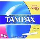 Tampax Cardboard Applicator Tampons, Regular Absorbency, 54 Count (Pack of 2)