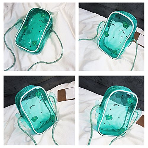 Small Messenger Transparent Fashion Mobile Phone Fresh Bag Portable ZCM Women's Cactus Jelly Mini Bag Bag Simple FqxBn40Aw1