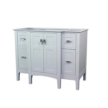 Bellaterra Home 7614 Wh Single Sink Vanity Cabinet 44 Inch Wood