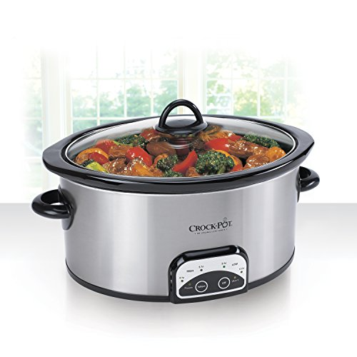Crock-Pot SCCPVP600-S Smart-Pot 6-Quart Slow Cooker, Brushed Stainless Steel