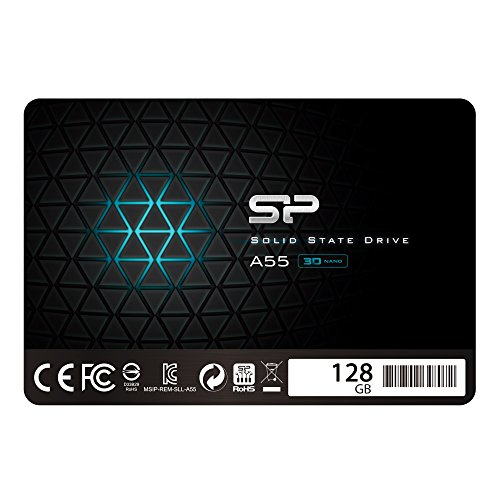 Silicon Power 128GB SSD 3D NAND A55 SLC Cache Performance Boost SATA III 2.5'' 7mm (0.28'') Internal Solid State Drive  (SU128GBSS3A55S25AC) by Silicon Power