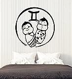 Vinyl Wall Decal Babies Twins Horoscope Zodiac Children's Room Stickers Large Decor (2603ig) Black