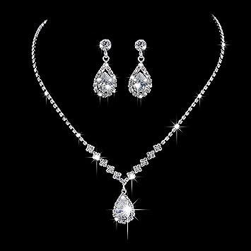 Antique Silver White Pearl Wedding Bridal Locket Rhinestone 4 Photo Locket Necklace 4 Picture Locket Clear Rhinestones Teardrop Crystal