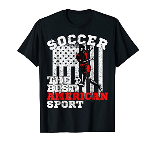 - Vintage USA American Flag Soccer The Best American Sport Tee