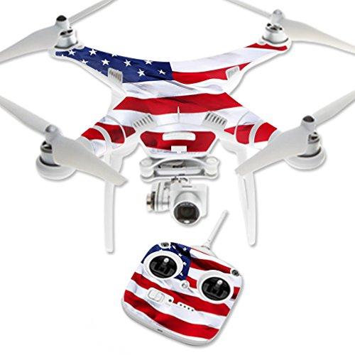 MightySkins Protective Vinyl Skin Decal for DJI Phantom 3 Standard Quadcopter Drone wrap cover sticker skins American Flag ()