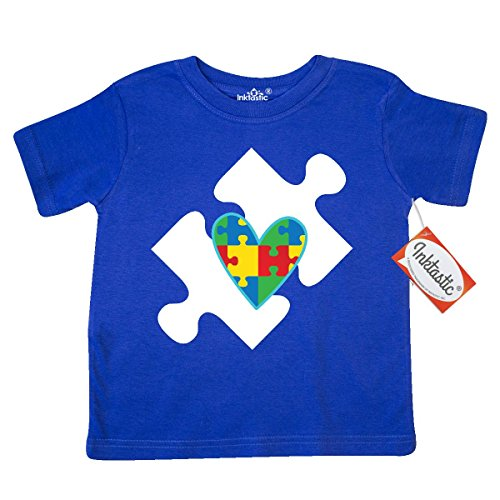 Price comparison product image Inktastic Little Boys' Autism Puzzle Piece Autistic Spectrum Awareness Toddler T-Shirt 3T Royal Blue
