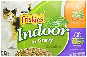 Friskies Selects Indoor Canned Cat Food Turkey Variety Pack 5.5 oz (12 Pack)