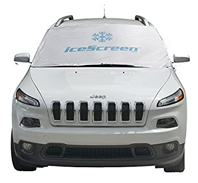iceScreen Magnetic Windshield Ice & Snow Cover, Standard Large, White