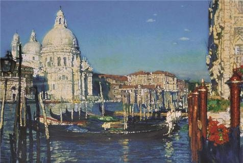'Chen Yifei,Venice,1992' Oil Painting, 24x36 Inch / 61x91 Cm ,printed On Perfect Effect Canvas ,this Amazing Art Decorative Canvas Prints Is Perfectly Suitalbe For Home Office Artwork And Home Decor And Gifts