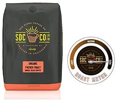 San Diego Coffee Organic French Dark Roast Whole Bean, 80 Ounce