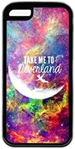 Galaxy Space Quote Take Me To Neverland Theme Hard Back Cover Case For Iphone 5C