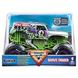 Toys : Monster Jam, Official Grave Digger Monster Truck, Die-Cast Vehicle, 1:24 Scale