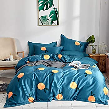 Amazon Com Uozzi Bedding Luxury 3 Pieces Blue Duvet Cover