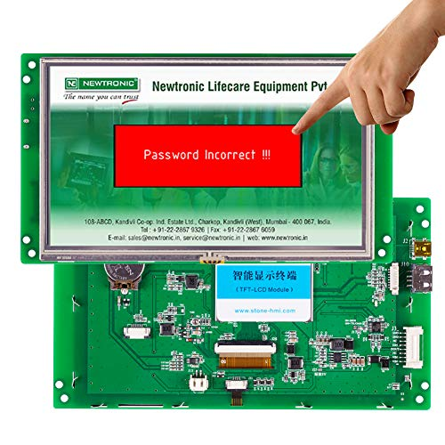 7 inch HMI TFT LCD Module Display Programmable Logic Controller Touch Screen for Equipment Use Customize Available