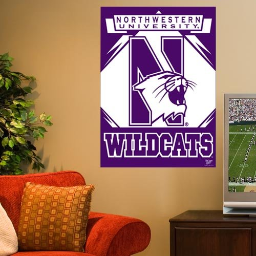 NCAA Northwestern Wildcats 27'' x 37'' Vertical Banner Flag