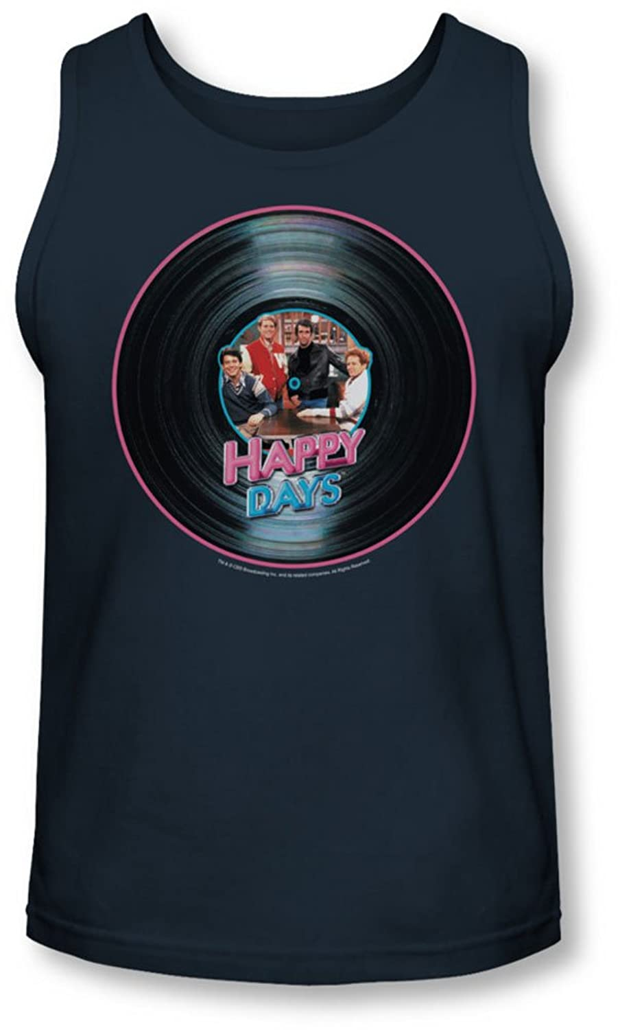 Happy Days - Mens On The Record Tank-Top
