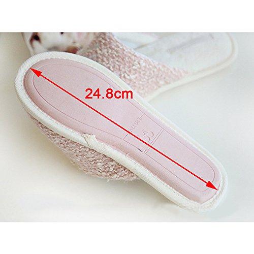 Eastlion Lovely Cartoon Warm Slipper Home Office Soft Warm Shoes Pink 6AfK6eWj