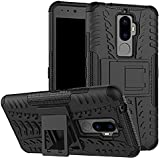 ZYNK CASE Hybrid Armor Design Detachable and Stand-up Feature Dual Layer Protective Shell Hard Back Cover Case For Lenovo K8 Plus-Space Black