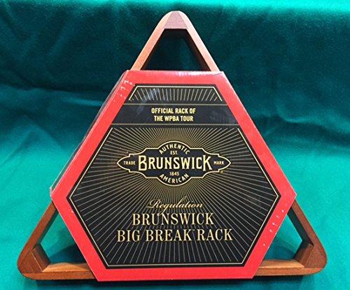 Engraved Wood Inlayed Brunswick Big Break 8 Ball Rack by D&L Billiards