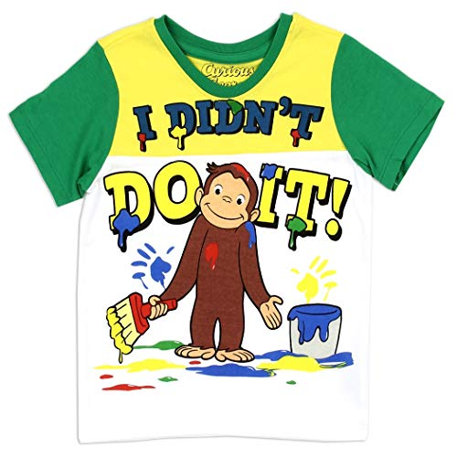 - Curious George Toddler Little Boys I Didn't Do It! Shirt (Green/Yellow, 2T)