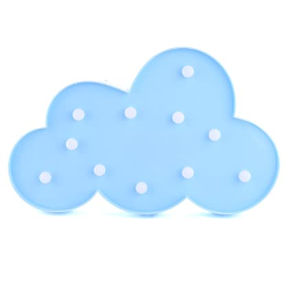 RAVPump LED Night Light Creative Cute Shape Kids Room Deco Table Lamp  Durable Battery Light For Festival Party Decorations (Blue Cloud)      Amazon.com