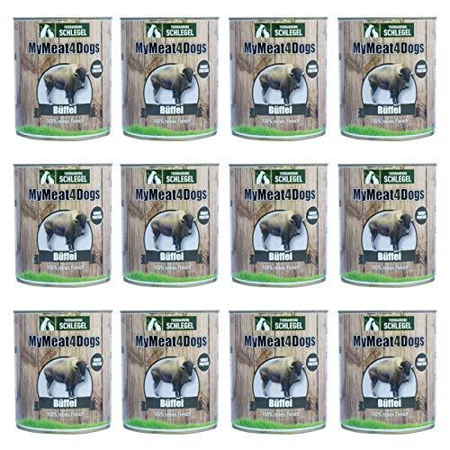 12x 820 g MyMeat4Dogs Dog Food Reinfleischdose Buffalo 12x 820 g