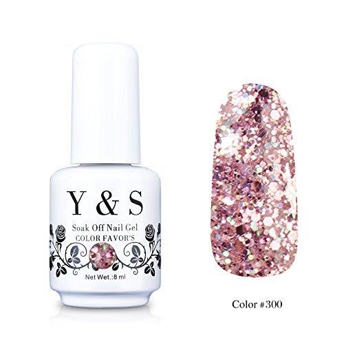Y&S Gelpolish, Soak-off  UV LED Nail Art/Beauty Care Glitter