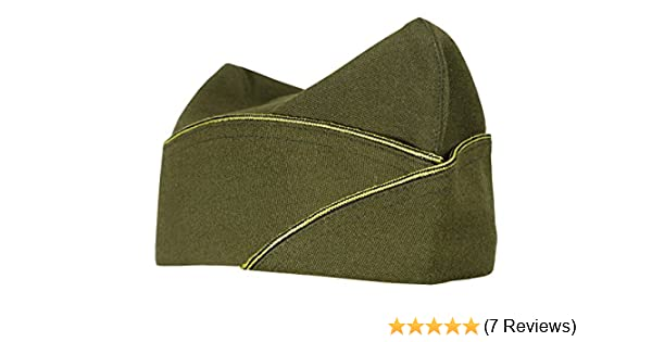 a79e97e788c Amazon.com  WW2 Reproduction US Army Officers American Infantry Overseas  Garrison Side Cap  Clothing