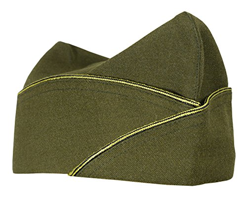 WW2 US Army American Military Infantry Overseas Garrison Side Cap - Officers (L)