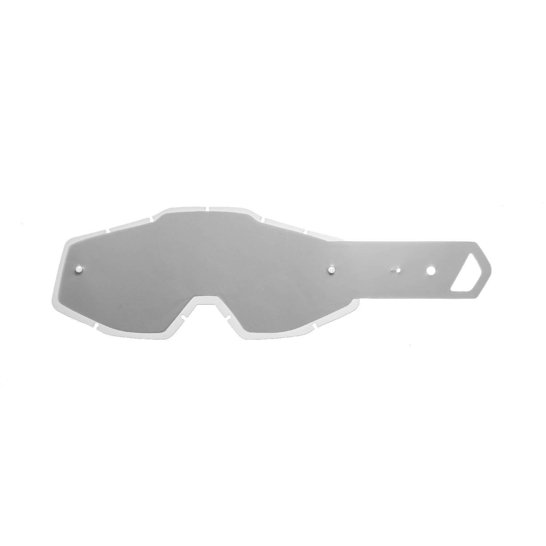 SeeCle 41S101 lenti combo trasparente con 10 tear off compatibile con maschera 100% Racecraft / Strata / Accuri
