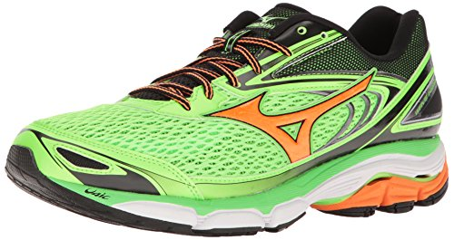 Mizuno Men's Wave Inspire 13 Running Shoe, Gunmetal/High Risk Red, 11 D US