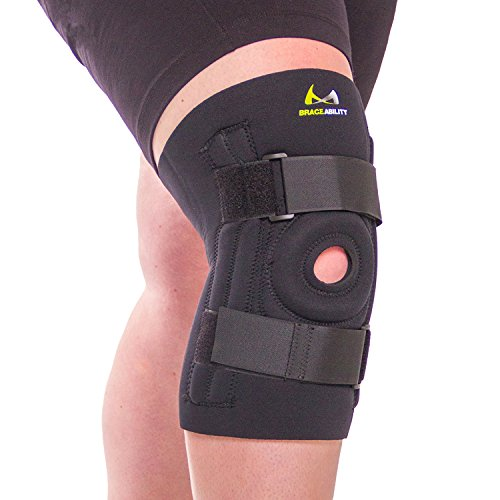 BraceAbility Knee Brace for Large Legs and Bigger People with Wide Thighs | Kneecap Protection Pad Treats Patellar Tendonitis, Chondromalacia, Patellofemoral Pain, Instability & Dislocation (4XL)