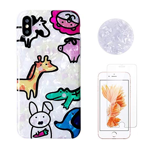 Shellstyle Cute Phone Cases for iPhone 6/6 Plus/iPhone 7/7 Plus/iPhone 8/8 Plus/iPhone x/10 Luxury Flexible TPU Gel Case with Phone Stand (Forest Animal Friends, iPhone 6/6s Plus (5.5 inch))