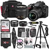 Nikon D3500 DSLR Camera with AF-P DX NIKKOR 18-55mm f/3.5-5.6G VR Lens + 64GB Card, Flash, Tripod, Battery, and Deluxe Bundle
