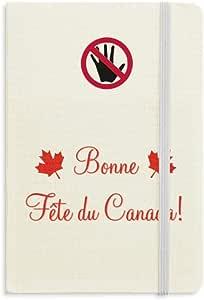 Cuaderno de hojas de arce feliz día de Canadá 4 de julio