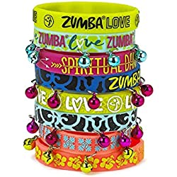 Zumba Love Rubber Bracelets 8pk (4 with bells)(4 without bells)