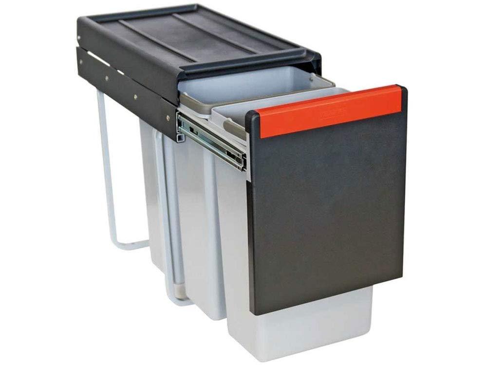 Franke Cube 30 - Pattumiera estraibile a 3 scomparti per la raccolta differenziata (3 x 10 L)