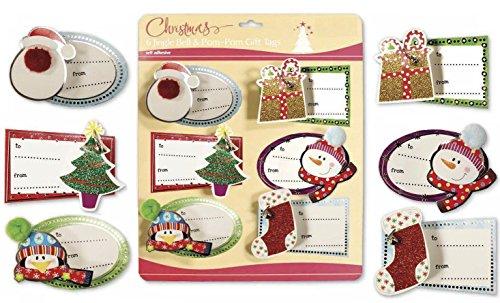 Christmas Embelished Stickers Assorted Stocking