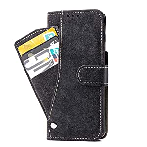 PUDINI® Wallet Case for Samsung Galaxy S21 Ultra Leather Flip Cover with Cash Card ID Holder All in-One – Black