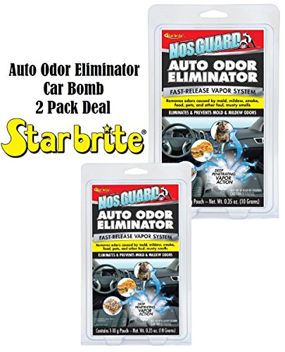 2 PACK Auto Odor Eliminator Control System Car Bomb Tobacco