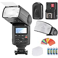 Neewer NW680/TT680 Speedlite Flash E TTLHigh-Speed Sync Camera Flash Kit for Canon 5D MARK 2 6D 7D 70D 60D 50D 600D/T3i 550D/T2i and other CANON DSLR Cameras,includes(1)NW680/TT680 Flash+(1)Universal Mini Flash Bounce Diffuser Cap+(1)35-piece Color Gel Filters+(1)Flash Diffuser+(1)16 Channels Wireless Remote Flash Trigger+(4)LR Battery