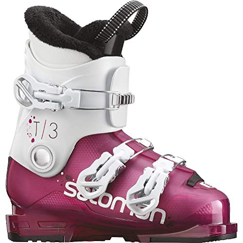 Salomon T3 RT Girly Girls Ski Boots 2019-24.5/Rose Violet Tranlucent-White ()