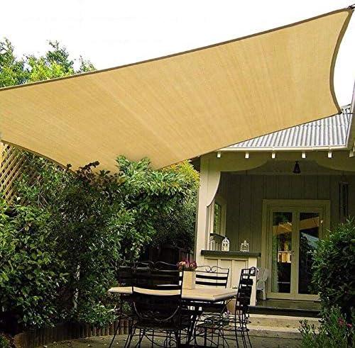CHENG Vela de Sombra 2x2.5m, Toldo Resistente y Transpirable, protección Rayos UV, Gris Antracita, para Patio y Actividades al Aire Libre - Beige: Amazon.es: Hogar