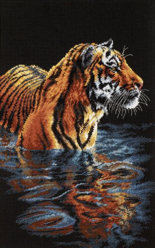 Dimensions Needlecrafts Counted Cross Stitch, Tiger Chilling Out Cross Stitch Kit Tiger