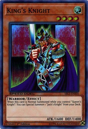 - Yu-Gi-Oh! - King's Knight - SBLS-EN005 - Super Rare - 1st Edition - Speed Duel Decks - Arena of Lost Souls