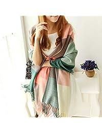 Women's Winter Plaid Cappa Tippet Long Shawl Wrap Warm