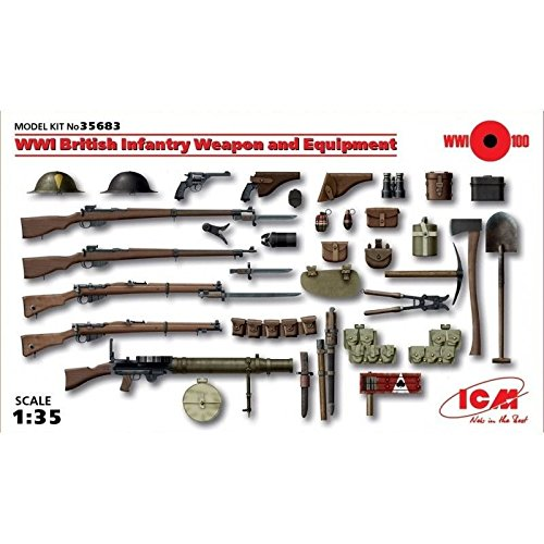 WWI BRITISH INFANTRY WEAPON AND EQUIPMENT 1/35 ICM 35683 /item# - Weapons Infantry British