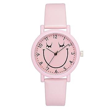 elistelle pulsera Relojes Chica PU piel dulce pulsera Relojes, color 4#: Amazon.es: Oficina y papelería