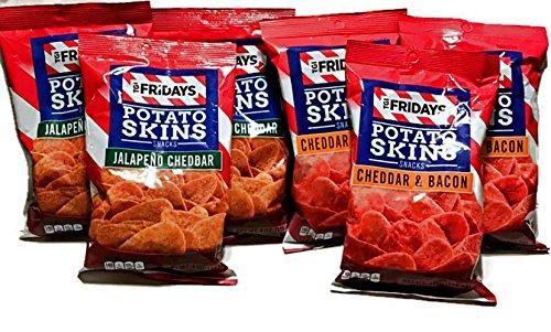 (TGI Fridays Potato Chip Cheddar Bundle: Jalapeno Cheddar & Cheddar Bacon 2 Flavors 4oz (6 bags))